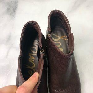 Sam Edelman Shoes - SAM EDELMAN | Petty Brown Leather Ankle Bootie 7.5